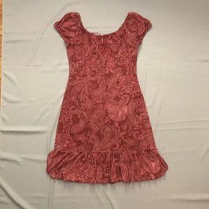 Xhiliration - Paisley A-line Ruffle Dress